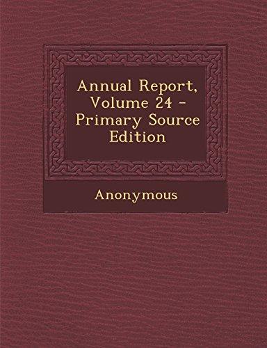 Annual Report, Volume 24