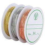 Navifoce Bare Copper Wire Tarnish Resistant Jewelry Wire