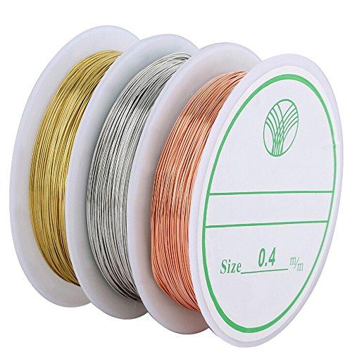 Navifoce Bare Copper Wire Tarnish Resistant Jewelry Wire (Wire Wrap Jewelry Making compare prices)