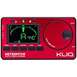 KLIQ MetroPitch - Metronome Tuner - with Guitar, Bass, Violin, Ukulele, and Chromatic Modes - Tap Tempo - Tone Generator - Best for All Acoustic and Electric Instruments - Carrying Pouch Included, Red