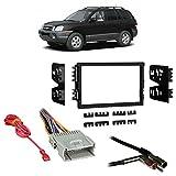 Fits Hyundai Santa Fe 03-06 w/ Monsoon Double DIN Harness Radio Dash Kit