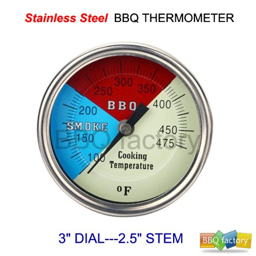 "Best Buy! bbq factory® 3""475F CHARCOAL GRILL PIT WOOD SMOKER TEMP GAUGE THERMOMETER 2.5"" ..."