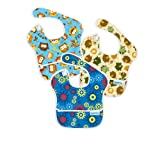 Bumkins Waterproof SuperBib 3 Pack - Blue Owl, Forest Friends & Gears
