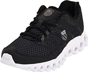 K-Swiss Women's Tubes Run 100 A Running Shoe,Black/White,7 M US