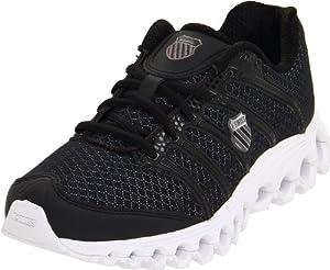 K-Swiss Women's Tubes Run 100 A Running Shoe,Black/White,12 M US