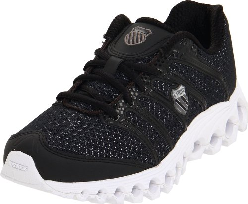 K-Swiss Women's Tubes Run 100 A Running Shoe,Black/White,12 M US