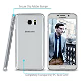 caseguru Shock-Absorption Anti-Fingerprint Back Cover for Galaxy Note 5, Clear (Hard)