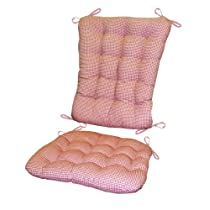 Rocking Chair Madrid Gingham Check Pad Set