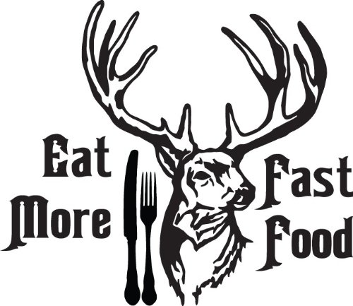 Eat More Fast Food Picture Art - Boys Bedroom- Peel & Stick Sticker - Vinyl Wall Decal - Size : 16 Inches X 24 Inches - 22 Colors Available front-456732