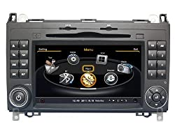 See susay(TM) for Mercedes-Benz A-Class and B Class Car DVD Player With GPS Navigation(free Map)Audio Video Stereo System with Bluetooth , USB/SD, AUX Input, Radio(AM/FM), TV, Plug & Play Installation Details