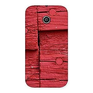 Red Nailed Wood Designer Back Case Cover for Moto E