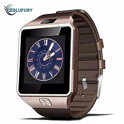 Blufury BLFDZ0916GL Smartwatch Phone - Luxurygold/Black