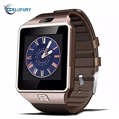 Blufury BLFDZ0916GL Smartwatch Phone - Luxurygold/Black