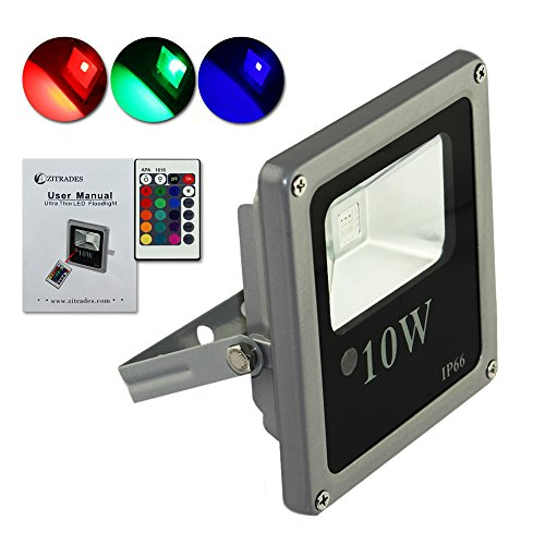 Zitrades 10W Ultra Thin Super Quality Rgb Waterproof Ip66 Led Floodlight For Outdoor Hotel Garden