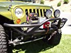 Body Armor 4x4 JK-1951 Black - Steel Tubular Front Bumper for 2007-2013 JK Jeep Wrangler