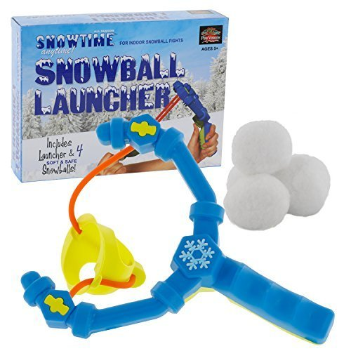 Indoor Snowball Fight Snowball Launcher - Includes 4 Snowballs by SNOWTIME ANYTIME