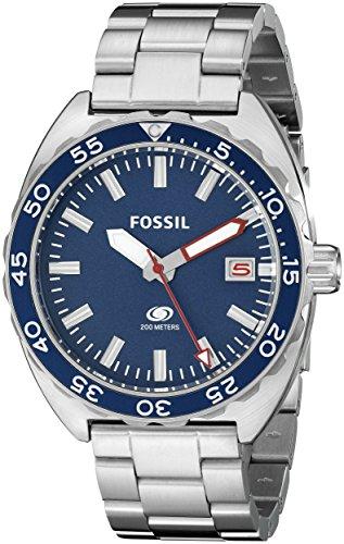 Fossil FS5048 - Reloj con correa de metal, para hombre, color azul / plateado