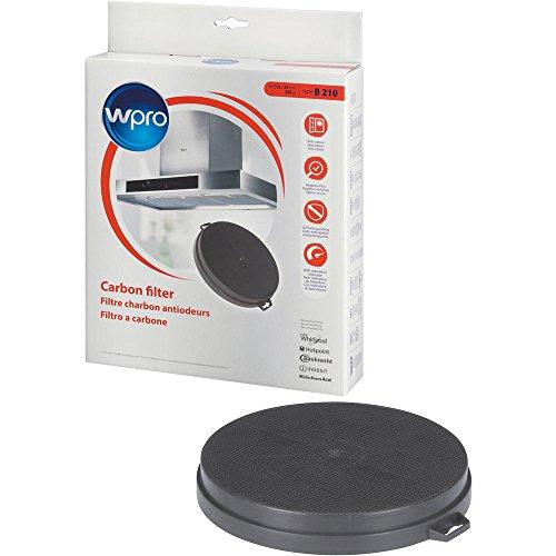 Wpro CHF210/1 Filtre de Hotte à Charbon B210 Diamètre: 210 mm