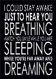 Don't Want To Miss A Thing - Aerosmith Breath - Lyrics Word Art Poster Print Canvas