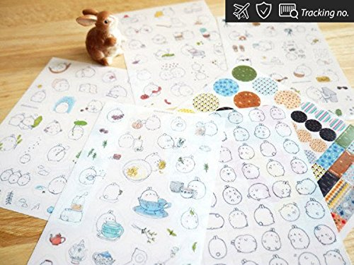 Molang Sticker V2 Stickers Diary Scrapbook Deco Calendar Label Crafts 6 sheets (Cute Number Stickers compare prices)