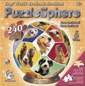 Cheap Fun Unicorn Enterprises A1358_6 Dog World 6 Inch Puzzle Sphere 240 pc puzzle (B00133XY2Y)