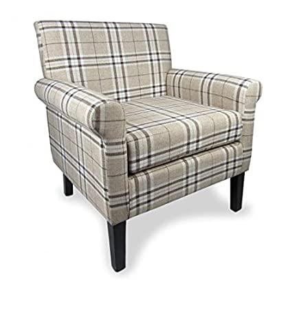Hamilton Check Fabric Armchair