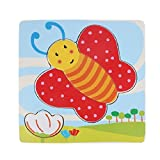 Amonfineshop(TM) Wooden Puzzle Educational Developmental Baby Kids Training Toy (Butterfly)