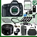Canon 5D Mark III Digital SLR Camera and Canon 50mm f/1.8 Lens + 32GB Green's Camera Package 2