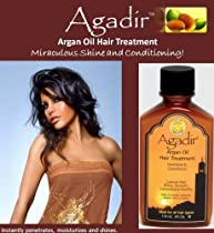 Agadir Argan Hair Care Oil Treatment, 4-Ounce: Contains 100% pure and certified Argan oil. Repairs, softens and strengthens dry