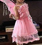 SIMONNE 蝶 羽根 衣装 4点セット キッズコスチューム ホワイト 80cm-100cm