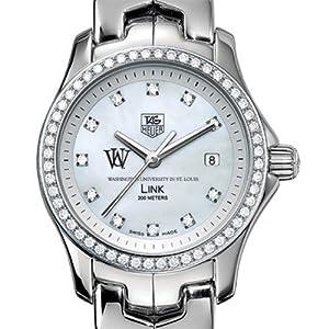 WUSTL TAG Heuer Watch - Women's Link Watch with Diamond Bezel