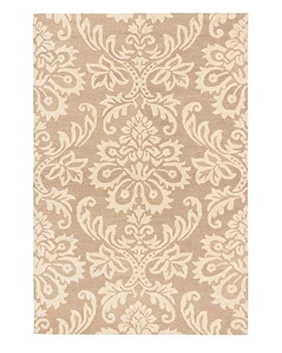 Handmade Burst Wool Rug, Brown/Ivory, 5' x 7' 6