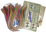 Naarilok Quilling Strips Book Kit -1600 quilling Strips 1 Quilling Book&Quilling Needle