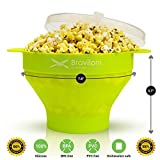 Popcorn Maker - Premium Microwave Popcorn Popper - FDA approved BPA Free Silicone Bowl with Lid - Cook Popcorn at Home Quick