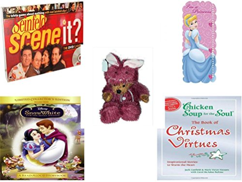 [Girl's Gift Bundle - Ages 6-12 [5 Piece] - Scene It? DVD Game - Seinfeld Edition - Blue Mountain Wallcoverings DF129915WM Princess Self-Stick Growth Chart - Teddy Bear Plush In Purple Mouse] (Seven Dwarfs Costume Ideas)