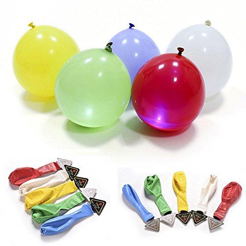 Olloomballoon  Ballon LED Colorés  Jusqu'à 15 heures d'Eclairage