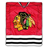 NHL Chicago Blackhawks Jersey Royal Plush Raschel Throw Blanket, 50x60-Inch at Amazon.com