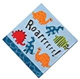 Meri Meri Roarrrrrr Dinosaur 5-Inch Small Napkins, 20-Pack
