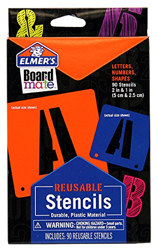 elmers-project-popperz-reusable-plastic-stencils-2-inch-and-1-inch-90-letters-numbers-and-shapes-e30