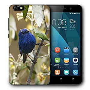 Snoogg Blue Sparrow Printed Protective Phone Back Case Cover For Huawei Honor 4X