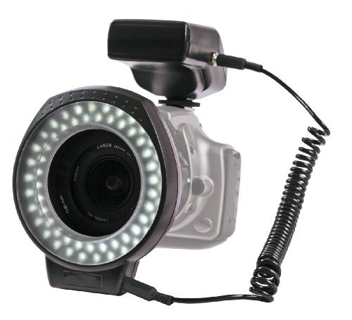 60 LED Ringlight with a Built-In Dimmer Switch, Includes Lens Mount Adapters ...