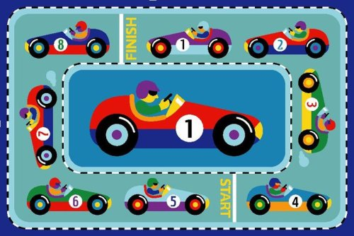 Vroom Race Car Rug OLIVE KIDS 39 x 58 Area Rug