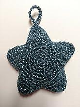 Estrella azul - adorno navideño