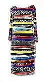 Nine West Women's Sheath Striped Abstract-print Dress