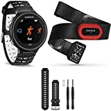 Garmin Forerunner 630 GPS Smartwatch w/ HRM-Run - Black/White - Black/White Band Bundle includes Forerunner 630 GPS, HRM-Run and Black and White Watch Band