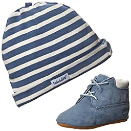 Timberland Crib With Hat Bootie (Infant/Toddler),Blue,2 M US Infant