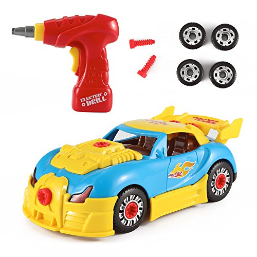 Liberty Imports World Racing Car Take-A-Part Toy for Kids with 30 Take Apart Pieces, Tool Drill, Lights and Sounds (Kids Power Tools Car compare prices)
