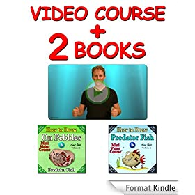 Video Course: How to Draw Predator Fish on Pebbles (2 books + Video Course) (Drawing Video Courses - How to Draw on Fish Book 1) (English Edition)