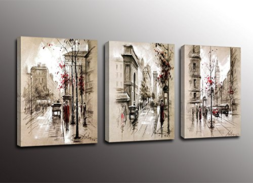Formarkor Art Kx1703 Paris Street Modern Giclee Print Artwork of Landscape Oil Paintings Canvas Wall Art
