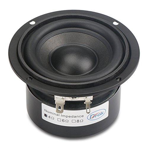 DROK-3-Zoll-25W-HIFI-Subwoofer-Lautsprecher-mit-87-dB-Hohe-Empfindlichkeit-4-Rund-Lautsprecher-mit-Super-Low-Pitch-Double-Magnetic-antimagnetisch-Startseite-Stereo-Woofer-Phile-Lautsprecher